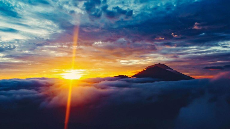 sunrise at mount batur in kintamani